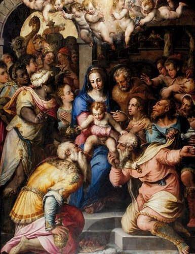 Adorazione dei magi - Vasari
