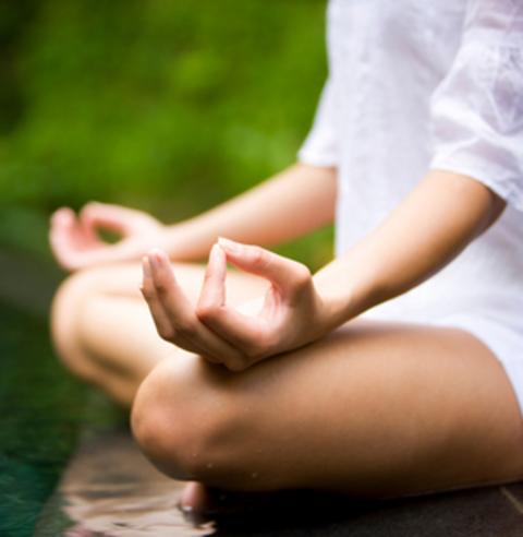 yoga e fiori di loto