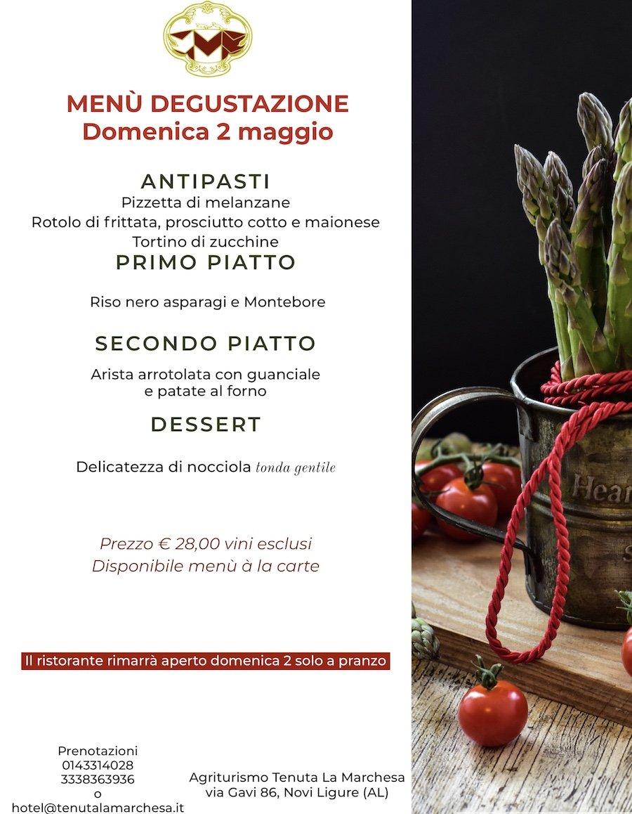 menu domenica 2 maggio marchesa
